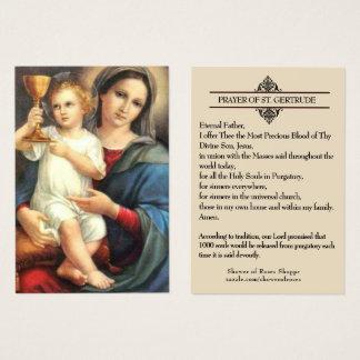 Precious Blood  St. Gertrude Prayer Holy Cards