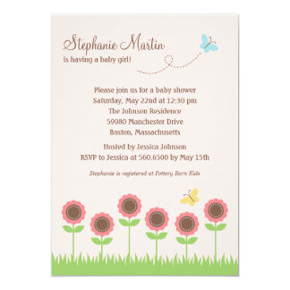 Precious Blooms Baby Shower Invitation