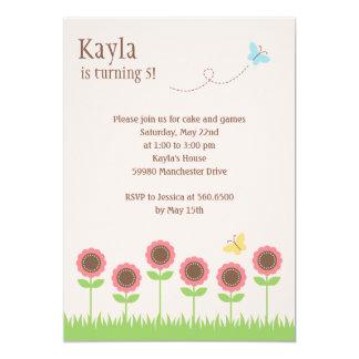 Precious Blooms Birthday Party Invitation