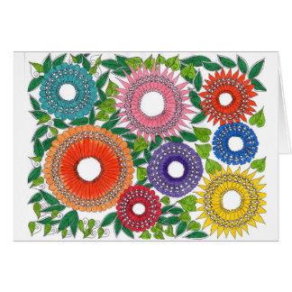 Precious blossoms of flowers card