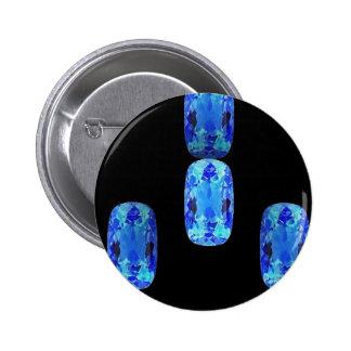 Precious Blue Topaz Gems Gifts By Sharles Pinback Button