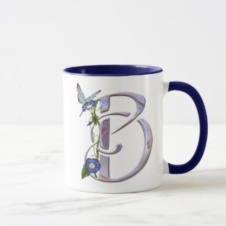 Precious Butterfly Initial B Mug