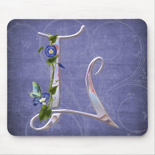 Precious Butterfly Initial L Mousepads