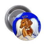 """ Precious Dachshund Angel Pet Art Pins"" 2 Inch Round Button"