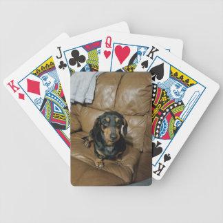 Precious Dachshund Bicycle Playing Cards