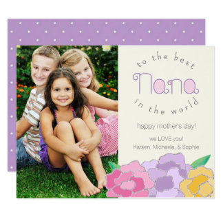 "Precious Florals Happy Mother's Day Nana Card 4.25"" X 5.5"" Invitation Card"