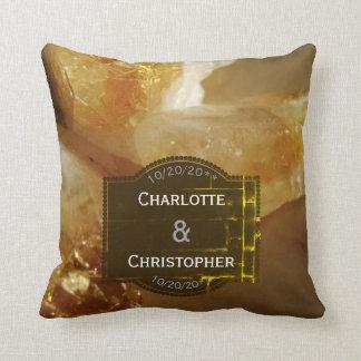 Precious Gemstones Photo Personalized Wedding Throw Pillow