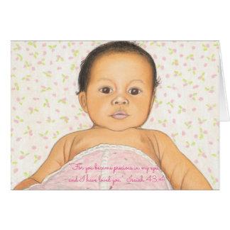 Precious in my Eyes-I Loved You~Scripture Newborn Card