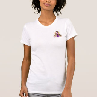 PRECIOUS JEWELS Pearl Gold Amethyst Wasp Brooch T-Shirt