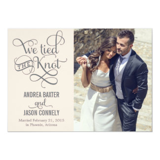 Precious Knot Wedding Announcement - Light Peach