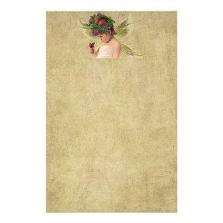 Precious Little Angel Girl- Stationery-No Lines Stationery