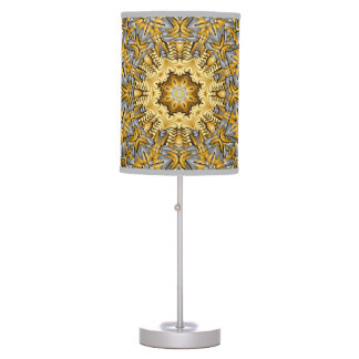 Precious Metal Kaleidoscope   Table Lamp