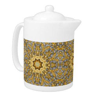 Precious Metal Kaleidoscope    Teapots