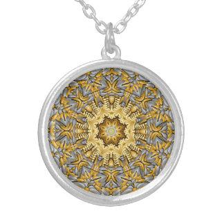 Precious Metal Vintage Kaleidoscope   Necklace