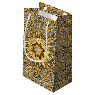 Precious Metal Vintage Kaleidoscope Small Gift Bag