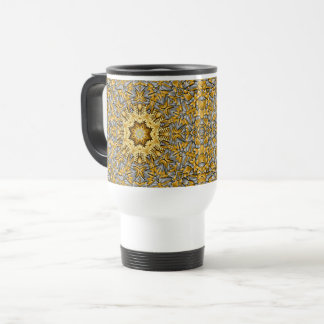 Precious Metal Vintage Kaleidoscope Travel Mug