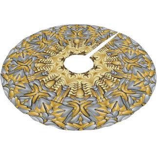 Precious Metal Vintage Kaleidoscope  Tree Skirt