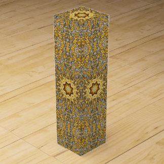 Precious Metal Vintage Kaleidoscope Wine Gift Box