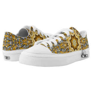 Precious Metal Zipz Low Top Shoes, gold & silver