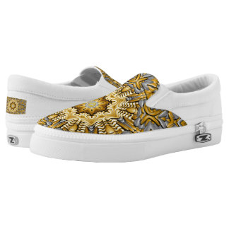 Precious Metal Zipz US Men & Women,  gold & silver Slip-On Sneakers