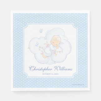 Precious Moments | Boy - Baptism Paper Napkin