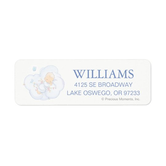 Precious Moments | Boy - Baptism Return Address Label