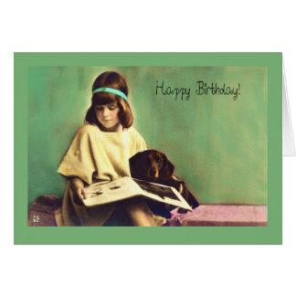 Precious Moments Dachshund Dog Birthday Card