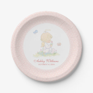 Precious Moments | Girl - Baptism Paper Plate