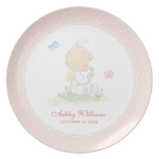 Precious Moments | Girl - Baptism Plate