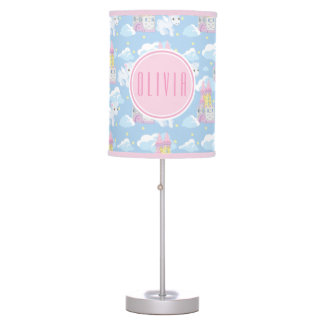 Precious Moments | Unicorn & Castle Girl Pattern Table Lamp