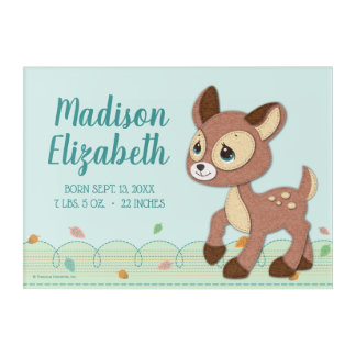 Precious Moments | Woodland Baby Deer Little One Acrylic Wall Art