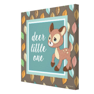 Precious Moments | Woodland Baby Deer Little One Canvas Print