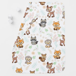 Precious Moments | Woodland Baby Pattern Baby Blanket