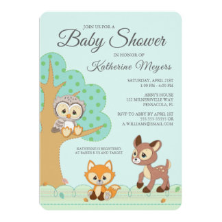 Precious Moments | Woodland Baby Shower Card