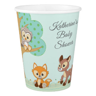 Precious Moments | Woodland Baby Shower Paper Cup