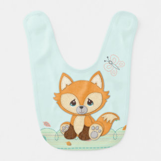 Precious Moments | Woodland Sweet and Clever Fox Bib