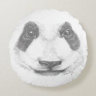 Precious panda bear portrait round pillow
