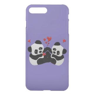 Precious Panda Hearts iPhone 7 Plus Case