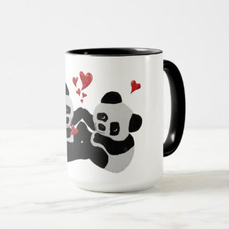 Precious Panda Hearts Mug
