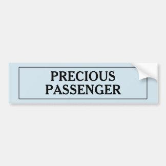 Precious Passenger Boy Bumper Sticker
