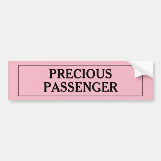 Precious Passenger Girl Bumper Sticker