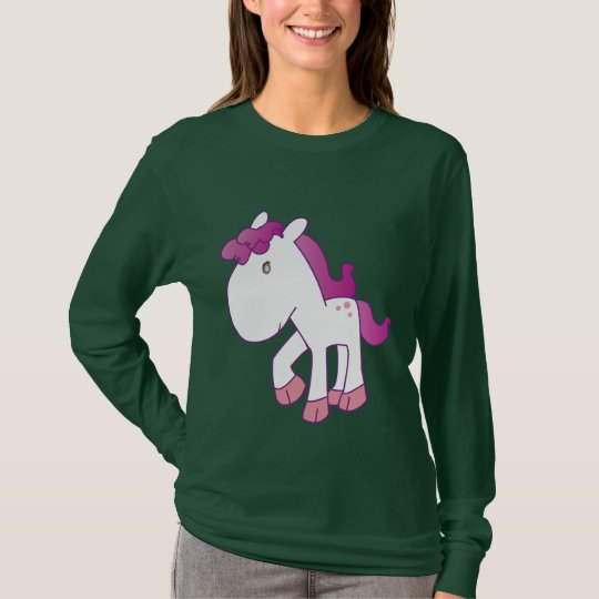 Precious pink  and purple pony T-Shirt