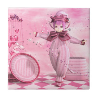 Precious Pink Whimsy Ceramic Tile