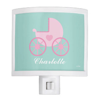 Precious Princess Baby Carriage | Add Your Name Night Lights