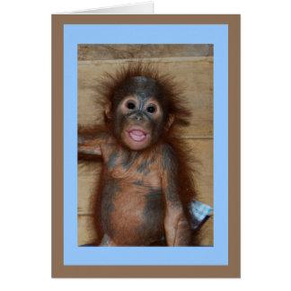 Precious Smiling Baby Orangutan Card