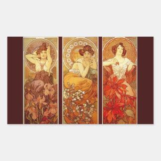 Precious Stones - Alphonse Mucha Sticker