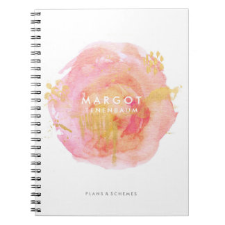 Precious Watercolor Custom Notebook