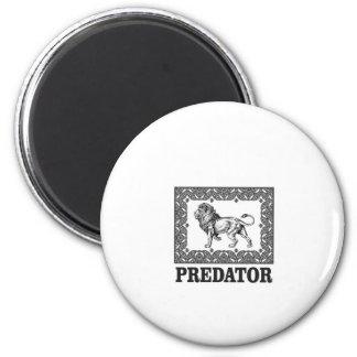 Predator the lion magnet