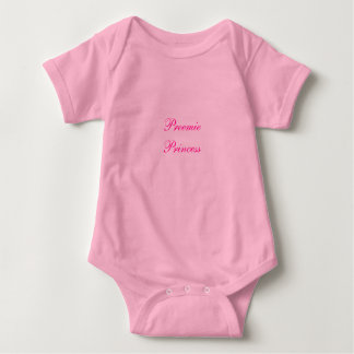 Preemie Princess Infant Baby Bodysuit