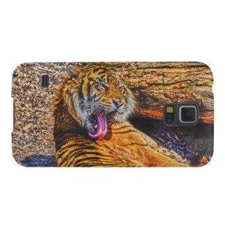 Preening Sumatran Tiger Big Cat Wildlife Art Galaxy S5 Cover